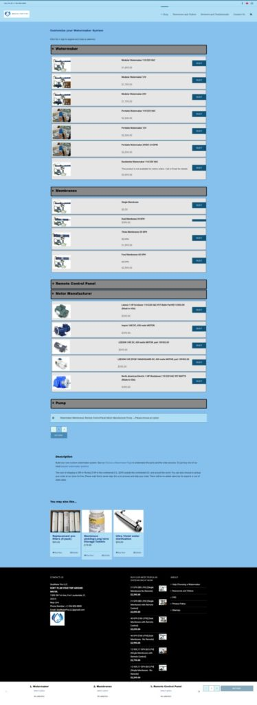 SeaWaterPro Customized Watermaker Cart