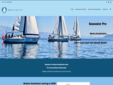 SeaWater Pro LLC Website Customization